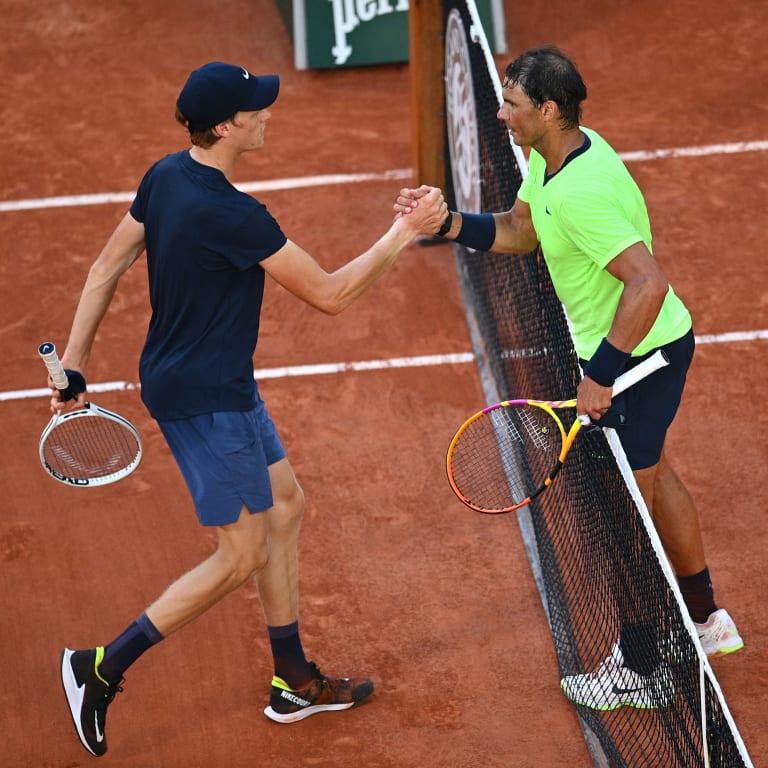 Helping Hands: Rafael Nadal has great expectations for Jannik Sinner