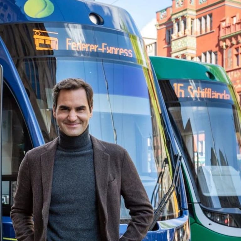 All aboard the Federer-Express: Tram in Basel, Switzerland is named after the 20-time major champion