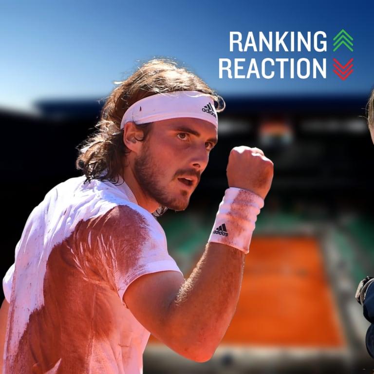 All rise: Tsitsipas up to No. 4 & Krejcikova cracks Top 15