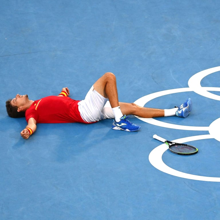 Carreno Busta outlasts Djokovic for bronze medal at Tokyo Olympics
