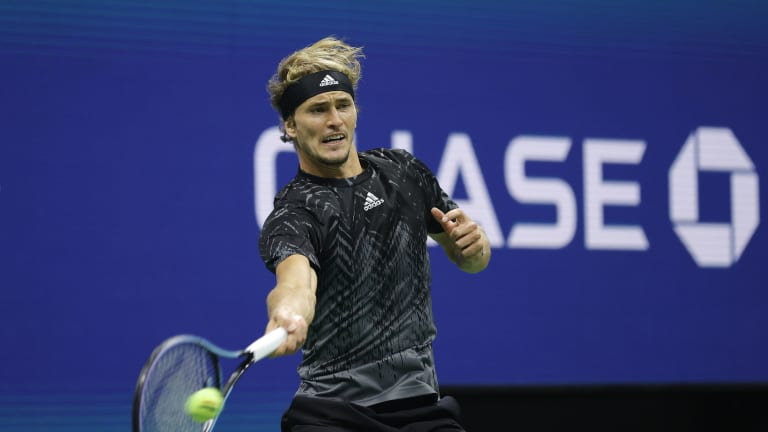 Zverev kept up with Djokovic in rallies, terminating many with his heavy forehand.