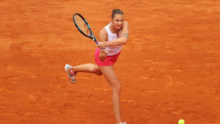 Karolina Pliskova made a third straight Rome final, but took a tough defeat to Swiatek (Getty Images).
