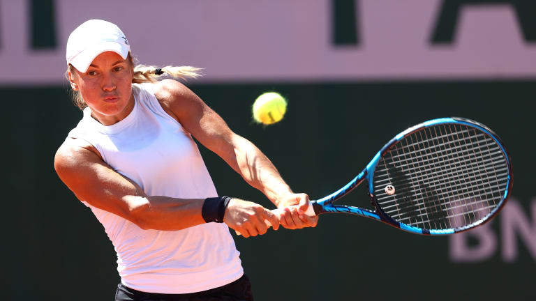 Putintseva is the top seed in Budapest, where she eased past Ekaterine Gorgodze in straight sets (Getty Images).