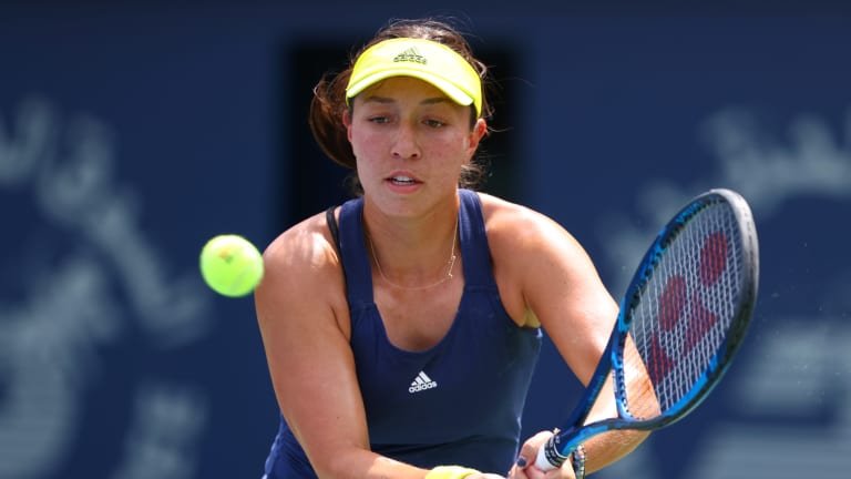 On the cusp of Top 30, Pegula lets large lead slip to Mertens in Dubai
