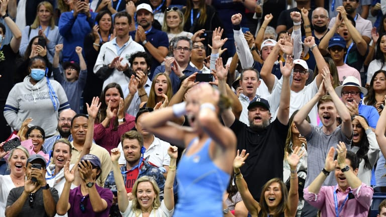 """Shelby Rogers told Saturday evening's Ashe crowd, """"Thank you for picking me tonight. You guys are in control of the tournament."""""""