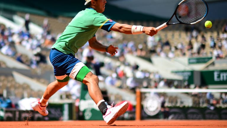 Don't count Kei Nishikori out of any match at a major. Don't.