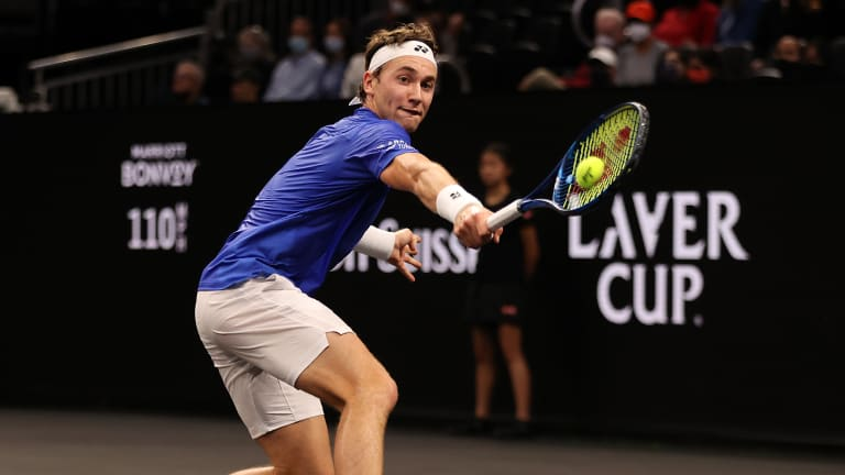 Ruud made just nine unforced errors on his Laver Cup debut.