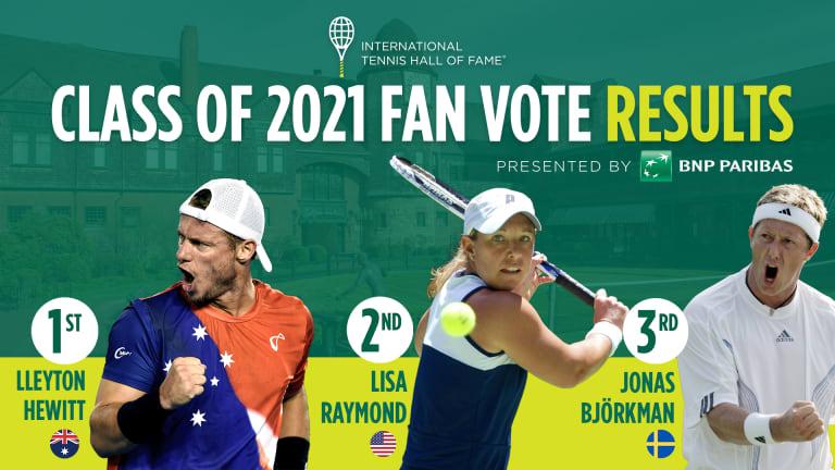 Hewitt wins  Tennis Hall of Fame  Fan Vote