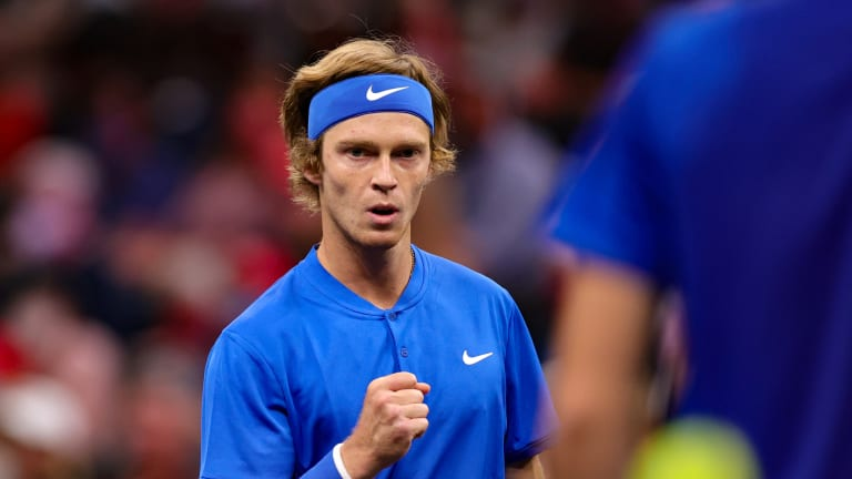 Andrey Rublev did it all for Team Europe in a lopsided fourth edition of the Laver Cup.