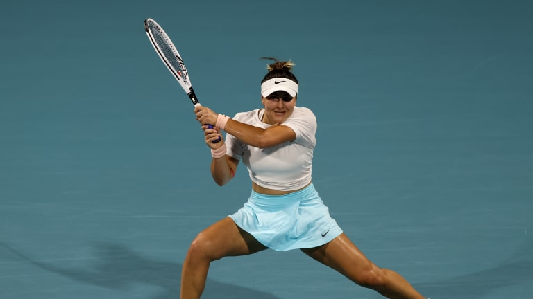Andreescu was playing her first clay-court tournament since 2019 (Getty Images).