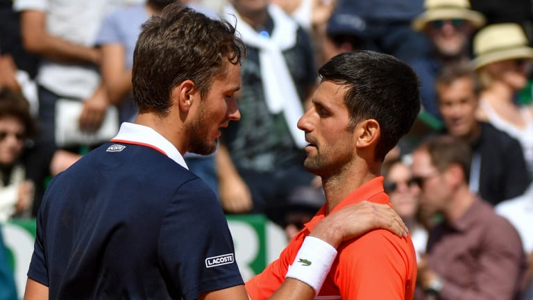 Due for big win, Medvedev gets it against Djokovic in Monte Carlo