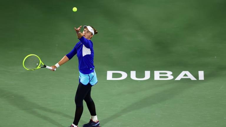 In third final of 2021, Muguruza tops surging Krejcikova to win Dubai