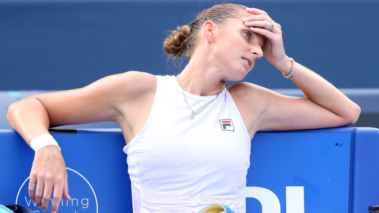 Pliskova won just six matches through the first two months of 2021, triggering a crisis of confidence for the 29-year-old Czech.