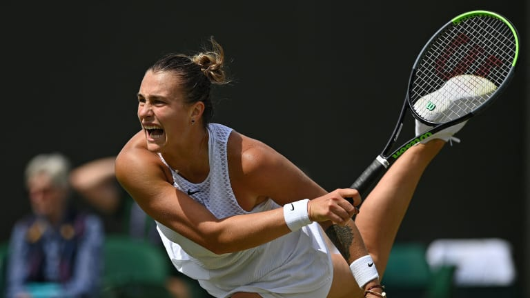 Sabalenka struck a whopping 10 aces in three sets over Rybakina, and managed 31 total winners (Getty Images).