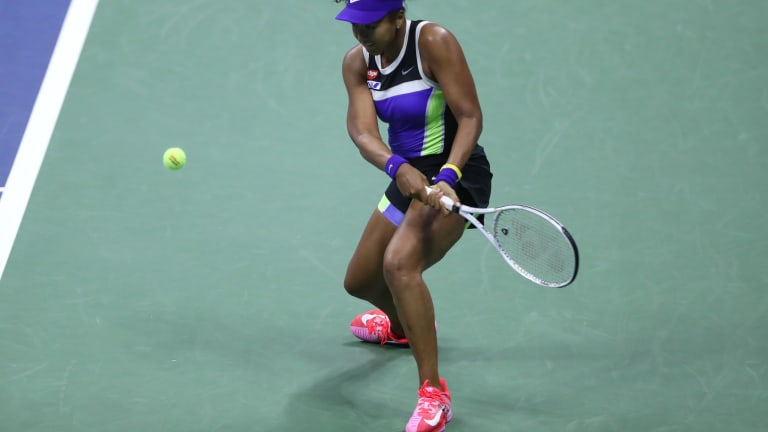 Naomi Osaka started fast, dipped for a set, but recovered to beat Doi