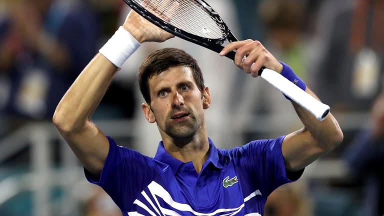 In Miami, Novak Djokovic shakes off slow start to best Tomic yet again