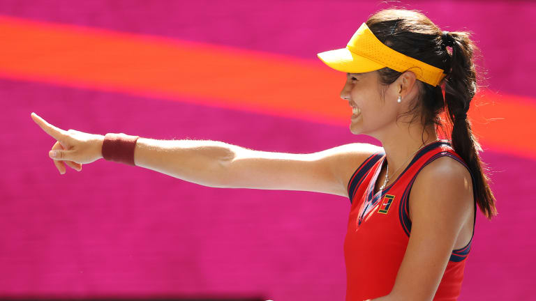Raducanu reeled off five straight games in the opening set against Bencic, the reigning Olympic champion.