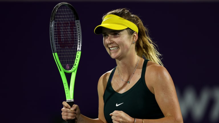 Back from the brink in Abu Dhabi: Kenin and Svitolina win the hard way