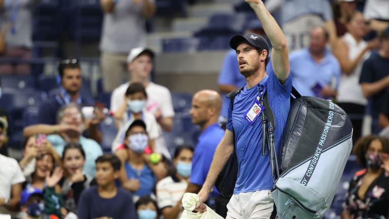 Murray took Stefanos Tsitsipas to five sets at the US Open.