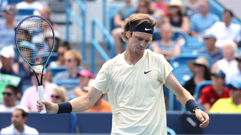 On Saturday, Rublev beat Medvedev for the first time in five tries, but he'll have to wait for another day to do the same against Zverev.
