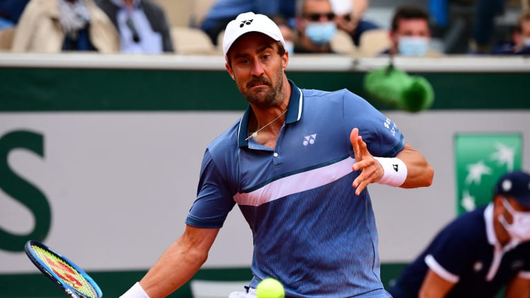 Johnson hadn't won a match in 2021 before reaching the third round of Roland Garros (Getty Images).