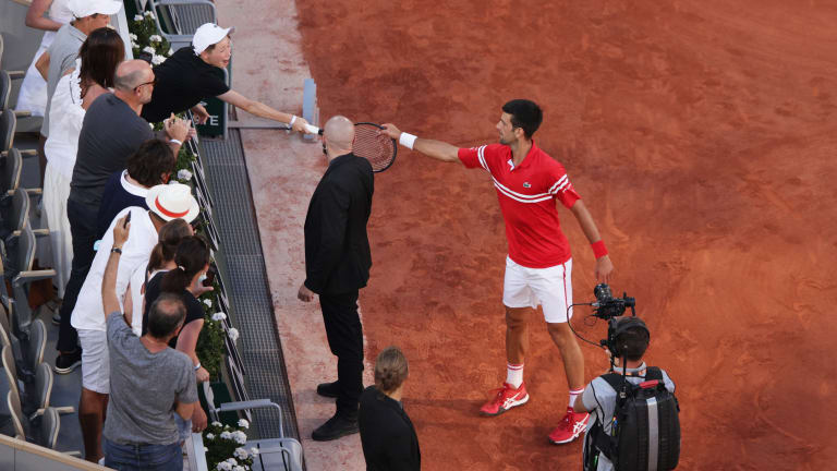 It was a big day for Novak Djokovic and his fans—this one, in particular.