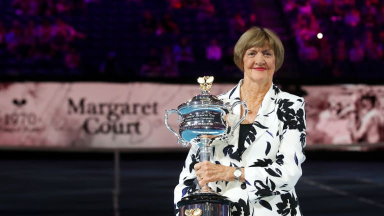 """Margaret Court says Navratilova-McEnroe protest """"was very, very wrong"""""""