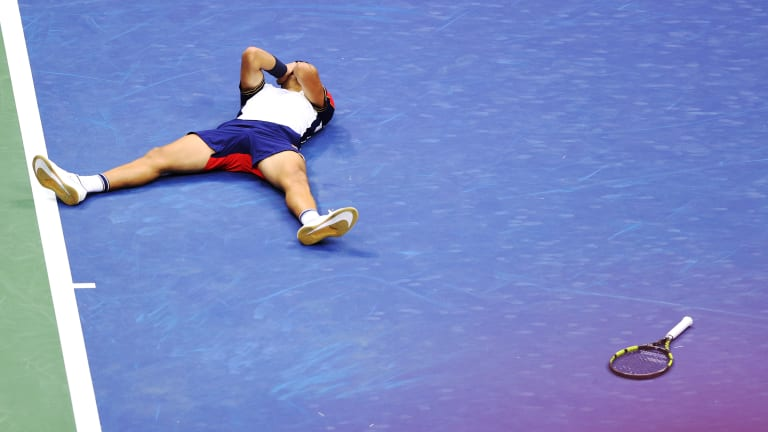 The 18-year-old became the youngest player to defeat a Top 3 seed at the US Open since ATP Rankings began in 1973.