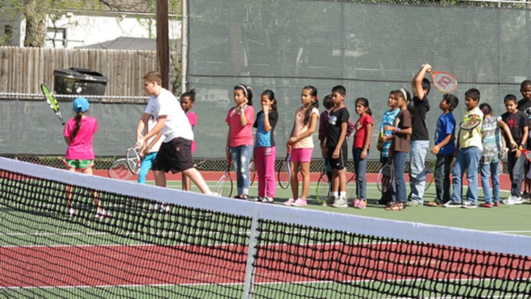 First Serve uses tennis to help refugee children connect and adapt