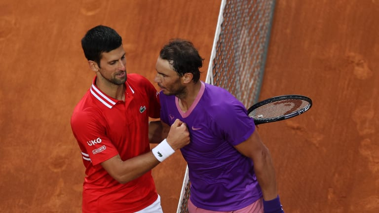 Most recently, Rafa got the upper hand in the rivalry, in Rome.