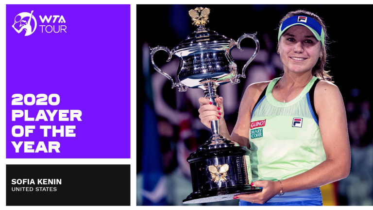 Kenin claims  player of the year  in 2020 WTA Awards