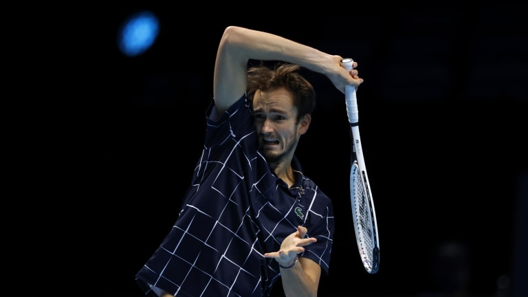 Medvedev tops Thiem in three sets to complete 5-0 run at ATP Finals