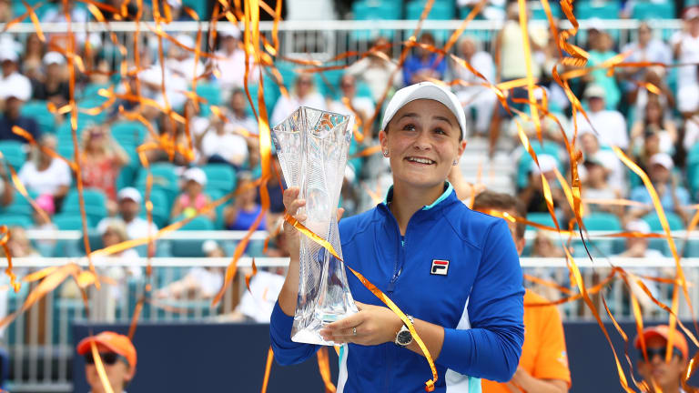 Ashleigh Barty cracks Top 10, wins biggest title of career in Miami