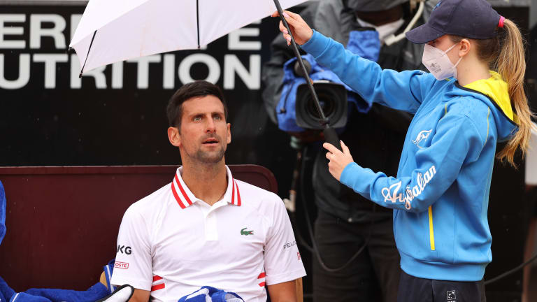 After being pushed, Djokovic responds in testy Rome win over Fritz
