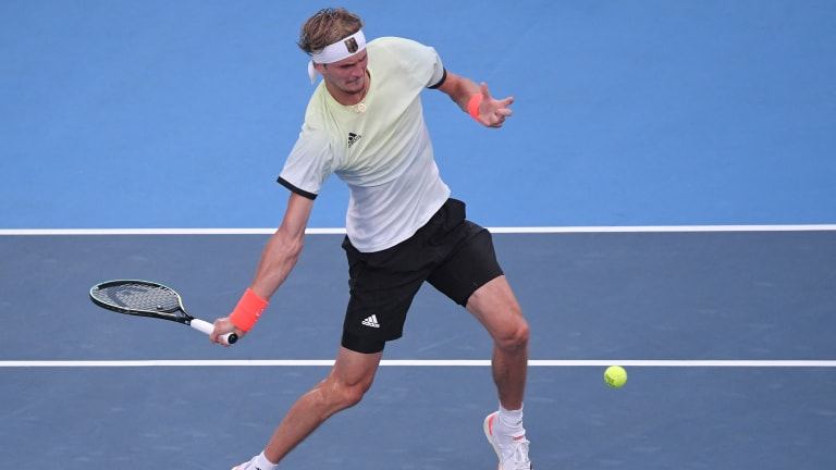 Forehands, backhands and serves: Alexander Zverev rocketed them all in one of the best stretches of tennis he's ever played.