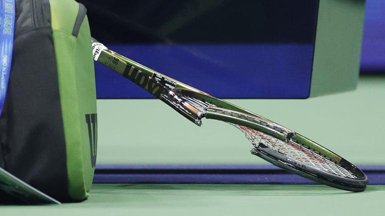 Sabalenka's former racquet.