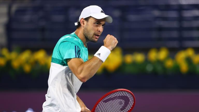 Lloyd Harris (Q), Aslan Karatsev (WC) are—naturally—in the Dubai final
