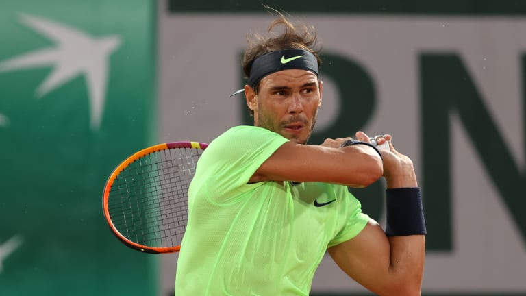 Nadal closed out the triple feature in the evening taking on childhood rival Richard Gasquet (Getty Images).