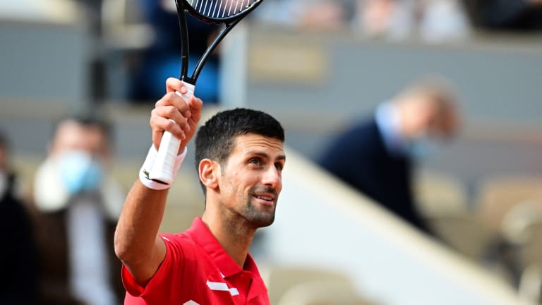 Djokovic wins 70th match at Roland Garros, tying second-most all-time