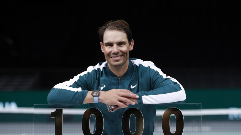 Rafael Nadal records milestone 1,000th tour-level win at Paris Masters