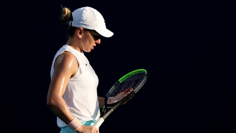 Right-shoulder injury forces Simona Halep to cut Miami Open bid short