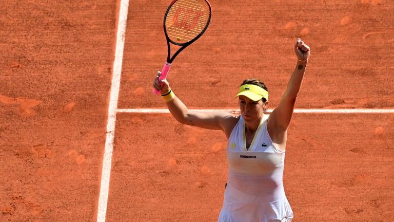 Pavlyuchenkova had lost her first six Grand Slam quarterfinals in singles (Getty Images).