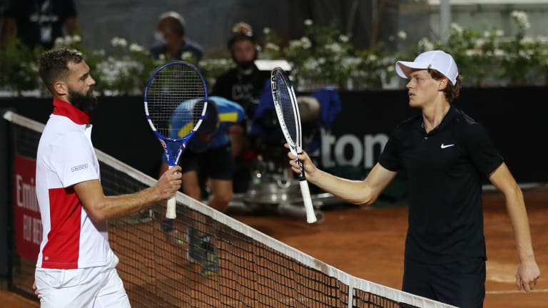 Rome rundown—Nishikori wins first match in a year; Mertens rebounds