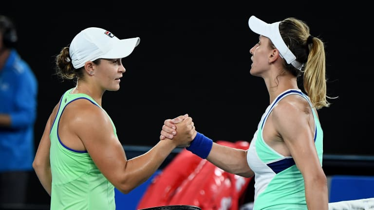 In an Australian Open clash that felt like two matches, Barty prevails