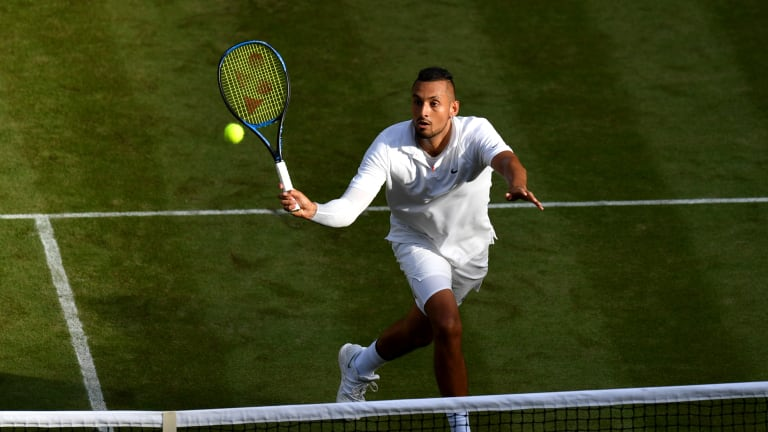Ranked 61st but always a threat at SW19, Nick Kyrgios—whose last Wimbledon match was a four-set loss to Rafael Nadal—will face talented youngster Ugo Humbert.