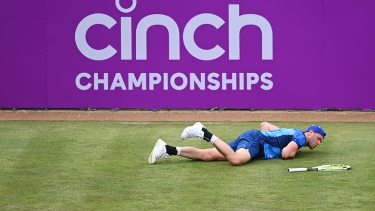 The world No. 155 certainly had a tough day at the office against Lopez and is struggling to find his footing on the grass. In Nottingham last week he fell in the second round to American Frances Tiafoe.