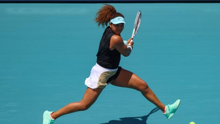 Naomi Osaka maintains No. 1 bid in Miami, Sabalenka, Svitolina advance