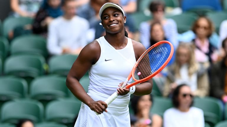 The win over Kvitova was Stephens' first over a Top 10 player at Wimbledon (Getty Images).