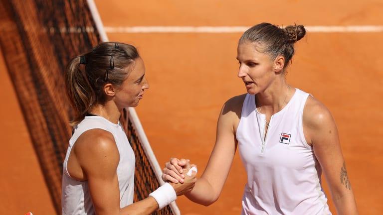 Pliskova powers past Martic to reach third consecutive Rome final