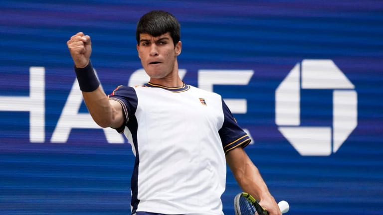 We've gotten to see Raducanu and Fernandez since their US Open breakthroughs; on Sunday, we get another look at Alcaraz.